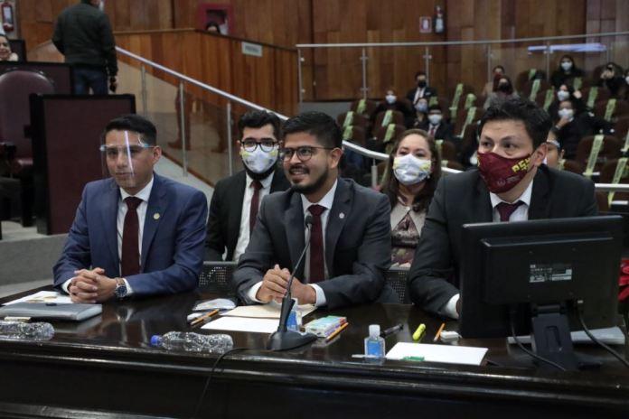 Comparece el titular estatal de la CGCS, Iván Luna, ante la Comisión Permanente de Gobernación de la LXV Legislatura.