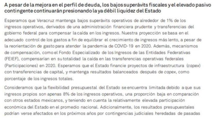 S&P Global Ratings confirma calificación de 'mxBBB-' para Veracruz; la perspectiva se mantiene estable