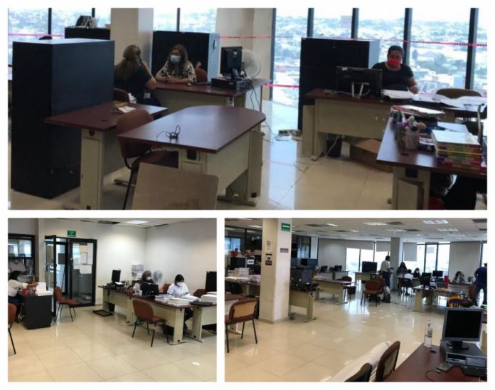 El personal de la Ciudad Judicial en el puerto de Veracruz se reincorporó a sus labores.