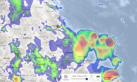Continúa la alerta preventiva por lluvias y frente frío en Veracruz
