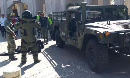 "Simulacro ""Amenaza de bomba"": Tuxpan"
