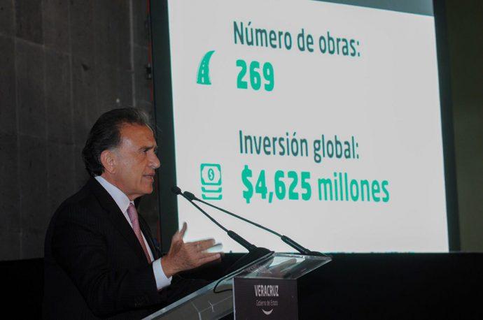 Invertirá el Gobernador Yunes casi 5 mil millones de pesos en obras carreteras para Veracruz: Estado