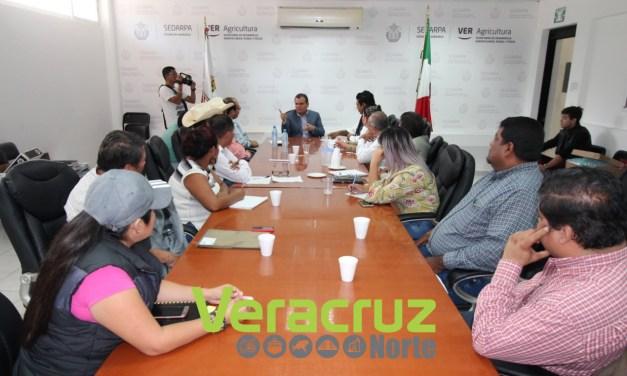 """Atiende Sedarpa a integrantes de la UGOCP """"Margarito Montes Parra"""""""