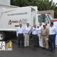 Pemex donó un camión recolector de basura  para Poza Rica