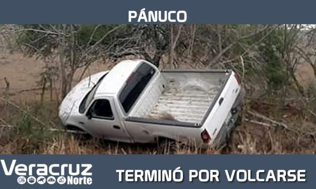 TERMINÓ POR VOLCARSE