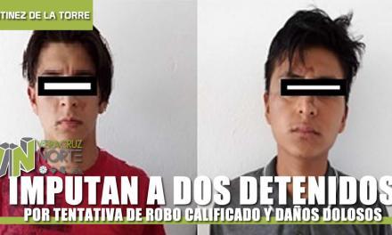 IMPUTAN A DOS DETENIDOS POR TENTATIVA DE ROBO CALIFICADO