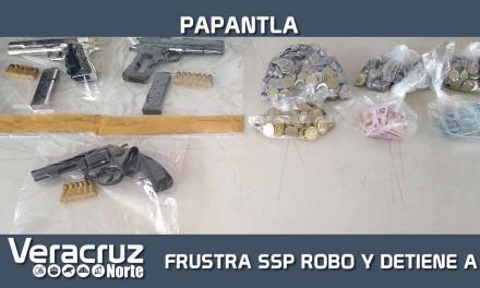 Frustra SSP robo a negocio y captura a 5 personas, en Papantla