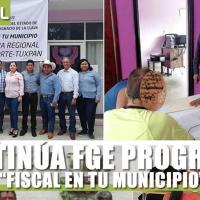 "CONTINÚA FGE PROGRAMA ""FISCAL EN TU MUNICIPIO"""