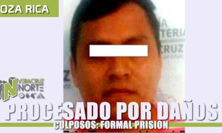 Dicta Juez auto de formal prisión contra procesado por daños culposos, en Poza Rica