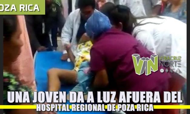 Una joven da a luz en las afueras del Hospital Regional