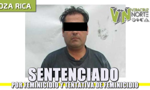 SENTENCIADO POR FEMINICIDIO Y TENTATIVA DE FEMINICIDIO
