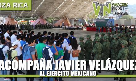 Acompaña gobierno de Javier Velázquez, a Celebración del 107 aniversario del Ejército Mexicano