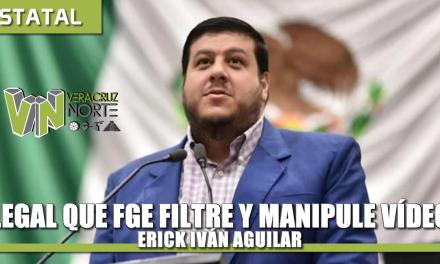 Ilegal que FGE manipule y filtre videos; en dicho video se confirma que mi actuación fue totalmente legal: Erick Iván Aguilar