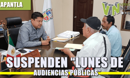 "SUSPENDEN ""LUNES DE AUDIENCIAS PÚBLICAS"""