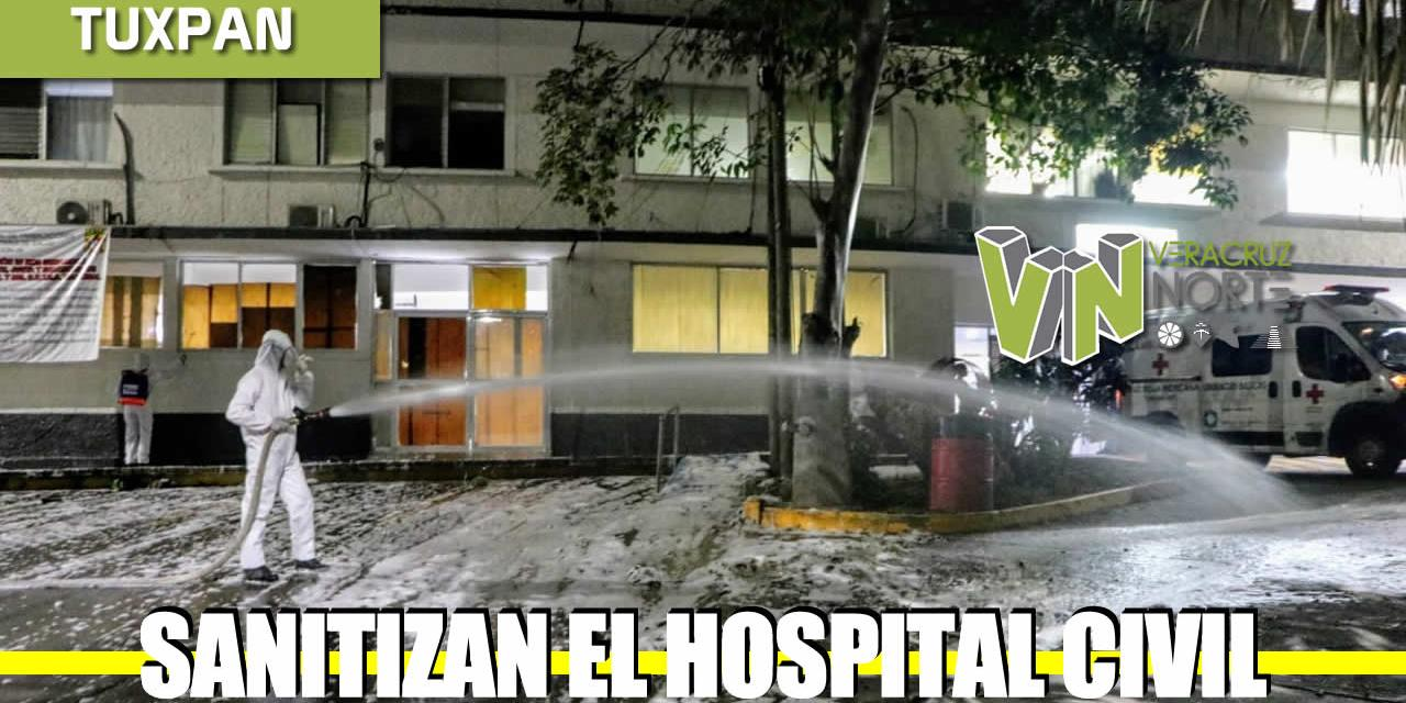 SANITIZACIÓN DEL HOSPITAL CIVIL EMILIO ALCAZAR