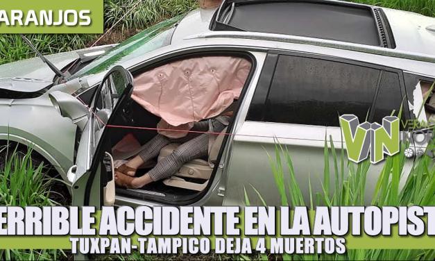Terrible accidente en la Tuxpan-Tampico deja 4 muertos