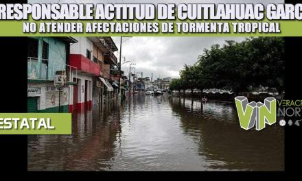 IRRESPONSABLE ACTITUD DE CUITLÁHUAC GARCÍA, NO ATENDER AFECTACIONES DE TORMENTA TROPICAL: ANTORCHA