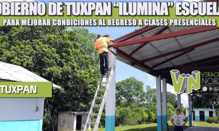 """GOBIERNO DE TUXPAN """"ILUMINA"""" ESCUELAS PARA MEJORAR CONDICIONES AL REGRESO A CLASES PRESENCIALES"""
