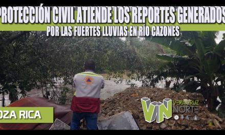 PROTECCIÓN CIVIL ATIENDE LOS REPORTES GENERADOS POR LAS FUERTES LLUVIAS EN RÍO CAZONES