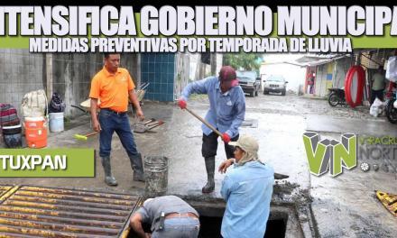 INTENSIFICA GOBIERNO DE TUXPAN MEDIDAS PREVENTIVAS POR TEMPORADA DE LLUVIAS