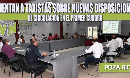 ORIENTAN A TAXISTAS SOBRE NUEVAS DISPOSICIONES DE CIRCULACIÓN EN EL PRIMER CUADRO