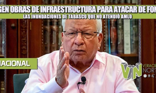 URGEN OBRAS DE INFRAESTRUCTURA PARA ATACAR DE FONDO LAS INUNDACIONES DE TABASCO QUE NO ATENDIÓ AMLO