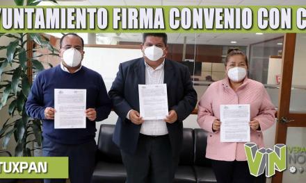 AYUNTAMIENTO FIRMA CONVENIO CON CFE