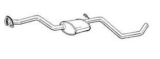 5029001 6559193 6638218 Silencioso intermedio Ford Escort