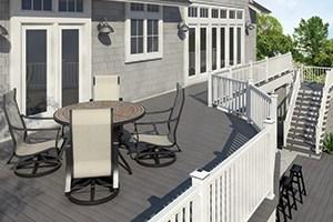 Frequently Asked Questions Veranda Composite Railing   Veranda Traditional Stair Railing   Porch Deck   Composite   Porch Railing   Angle Bracket Kit   Composite Decking