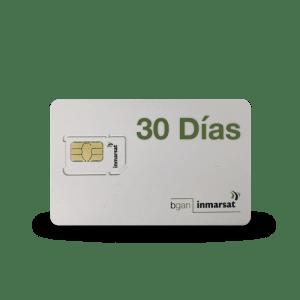 Inmarsat Bgan 30 tarjeta SIM prepago