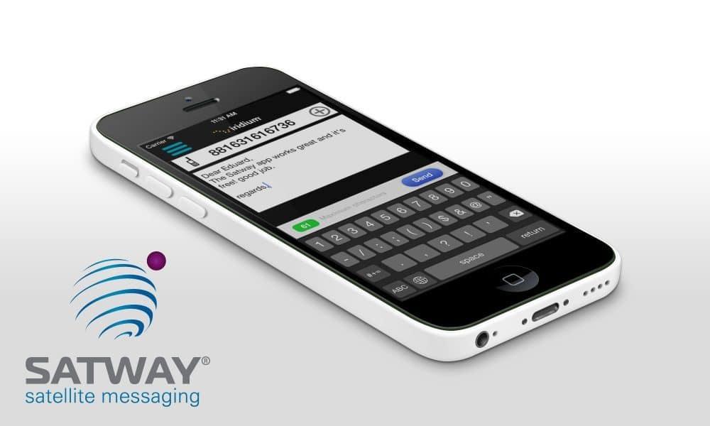 Con Satway App envia mensajes SMS a un teléfono satélite
