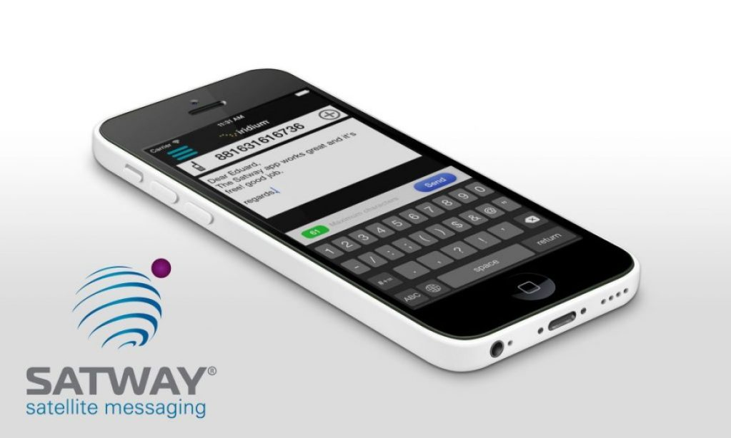 With Satway App send SMS messages to a satellite phone