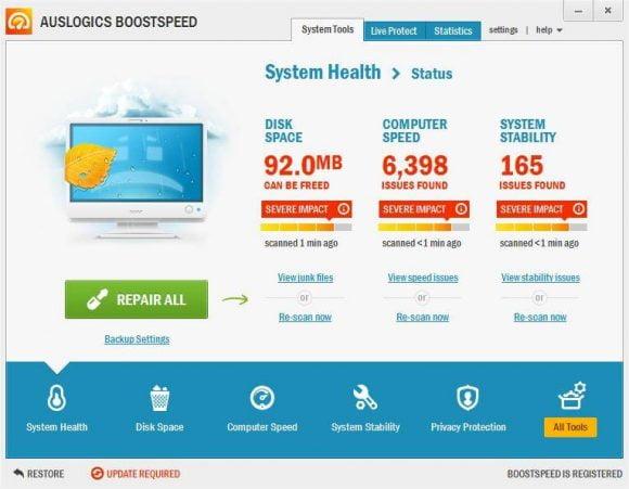 Auslogics BoostSpeed: mantenimiento, rendimiento y velocidad para tu PC