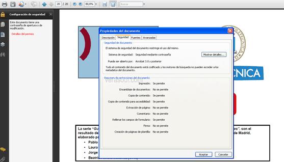 Desbloqueando fichero PDF