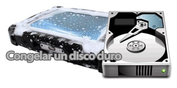 congelar disco duro