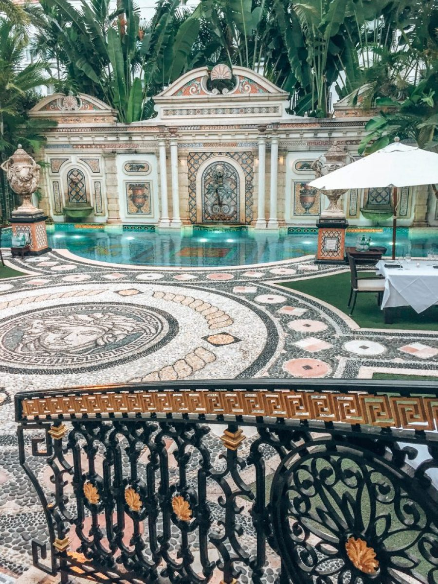 dinner at the versace mansion miami Florida southbeach