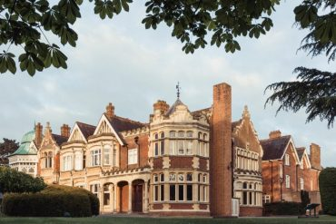 The mansion at Bletchley Park, England