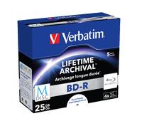 Verbatim M-Disc BD-R 5er-Pack, Jewel Case