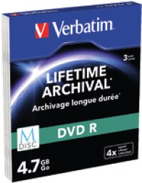 Verbatim M-Disc DVD R 3er-Pack, Slim Case
