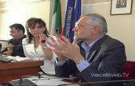 Franco Balocco, assessore regionale ai trasporti, a Vercelli