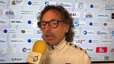Pro Vercelli – Cuneo 0-1: Viro Grieco, allenatore Pro Vercelli
