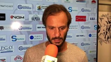 Pro Vercelli – Albinoleffe 1-0: Alberto Gilardino, allenatore Pro Vercelli