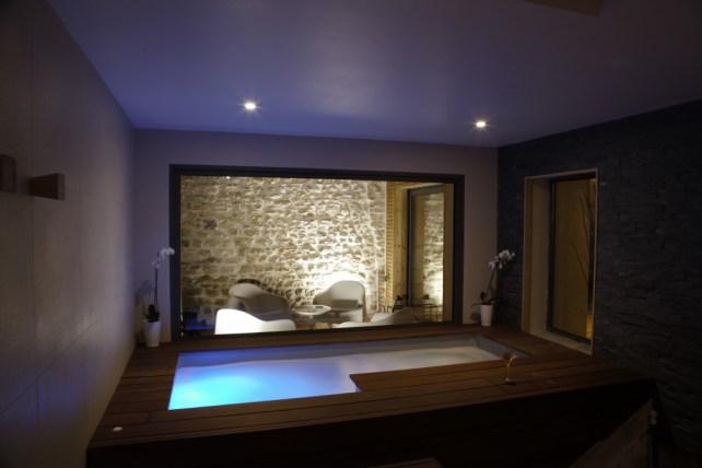 Aménagement en ipé pour spa