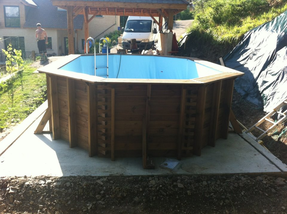 piscine octogonale allongee hors sol en bois vercors piscine. Black Bedroom Furniture Sets. Home Design Ideas