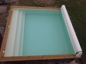 piscine carre en bois