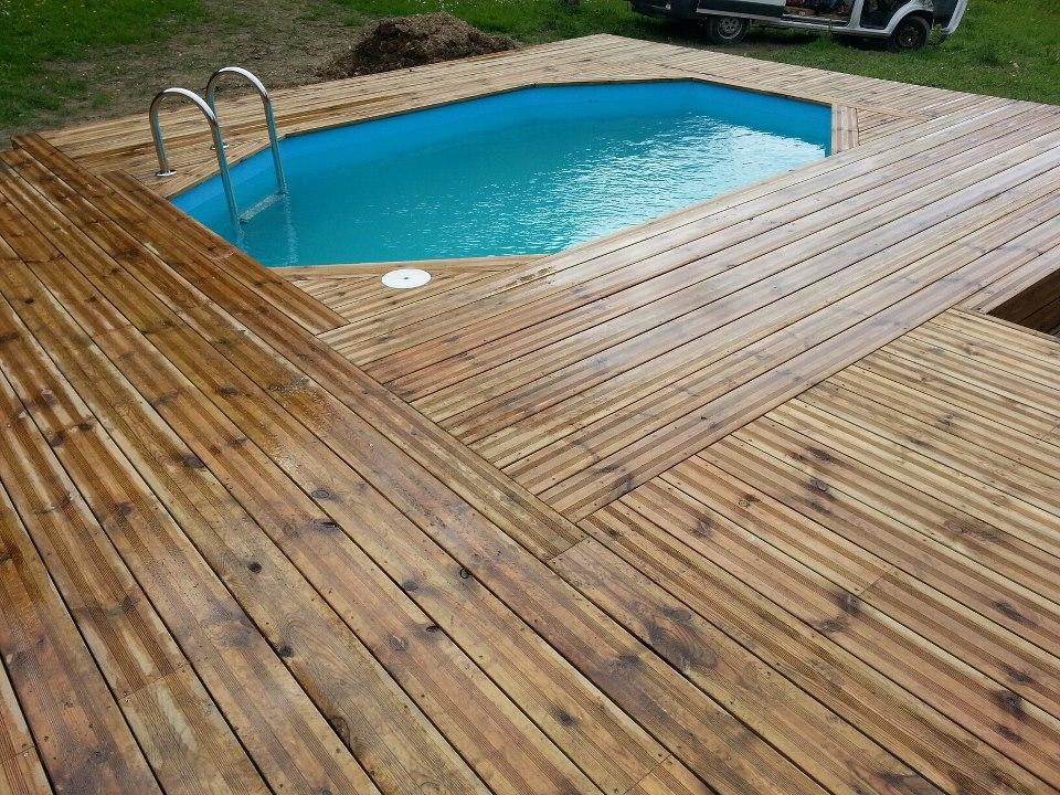 piscine octogonale allong 233 e semi enterree 2 vercors piscine
