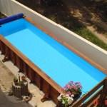 Couloir de nage en bois 8 metres