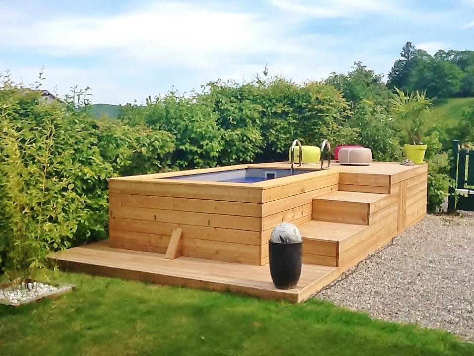 Terrasse en bois - plage de piscine   VERCORS PISCINE