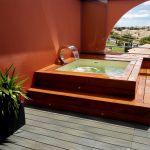 MIni piscine en bois exotique