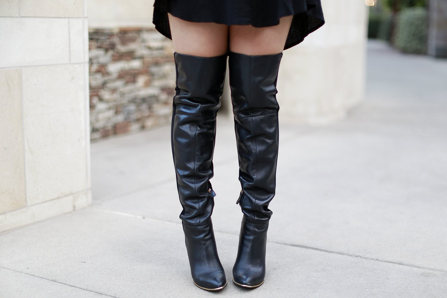 Boho Halloween Inspired Witch Outfit Idea OTK BOots